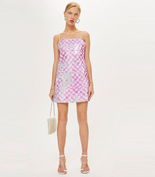 Petite Sequin Slip Mini Dress