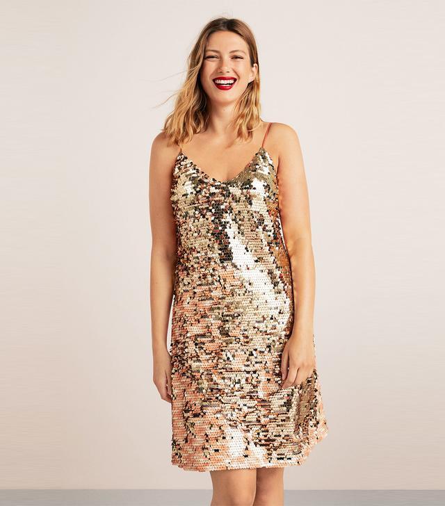 Violeta Reversible Sequins Dress