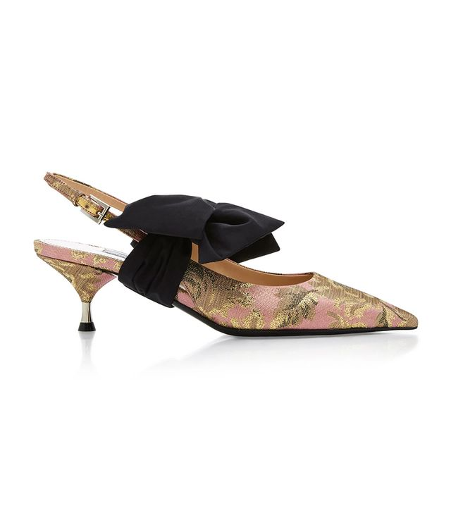 M'O Exclusive Brocade Slingback Pumps