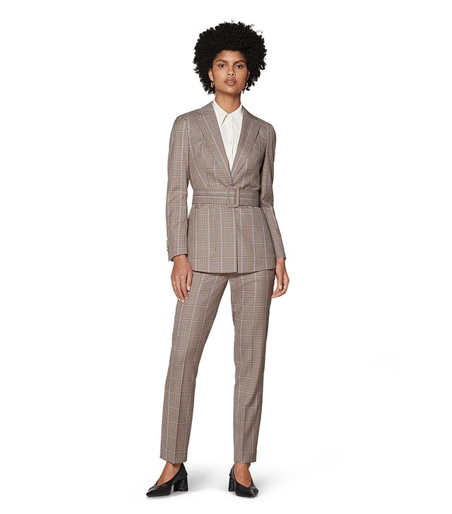 Suistudio Cameron Brock Checked Belted Suit