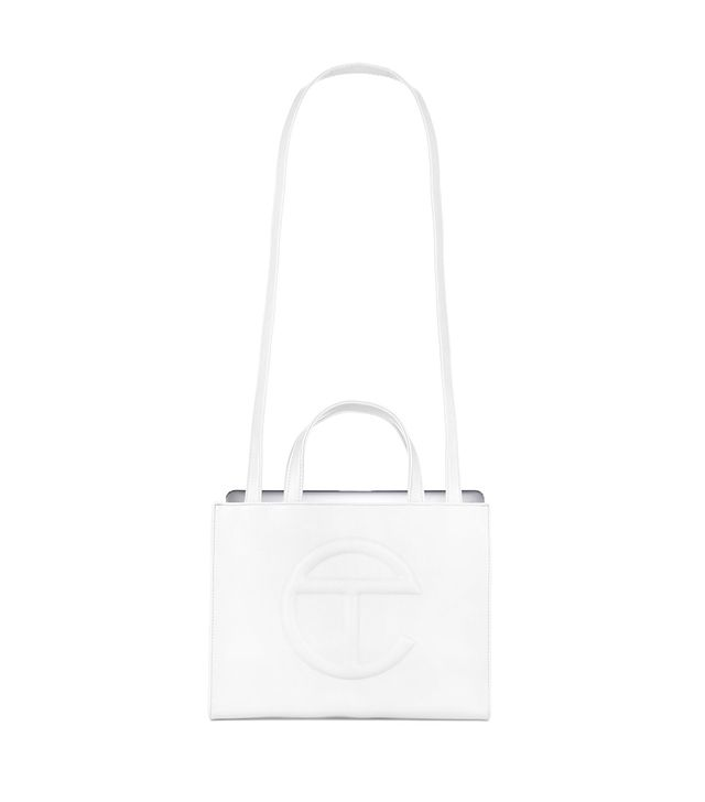 Telfar Medium White Shopping Bag