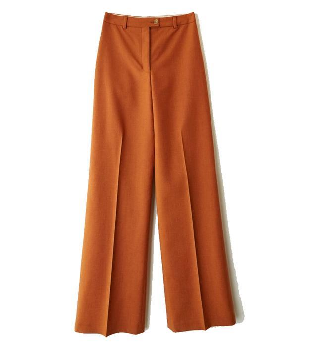 Acne Orange Wool Trousers