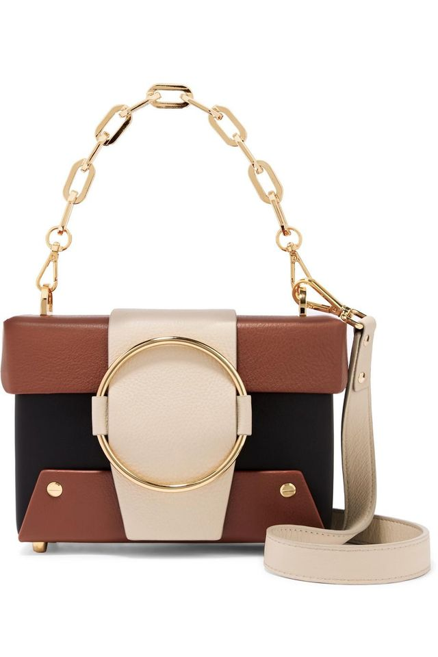 Asher Small Color-Block Textured-Leather Shoulder Bag