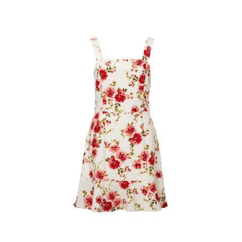 Linen Blend Flippy Mini Dress