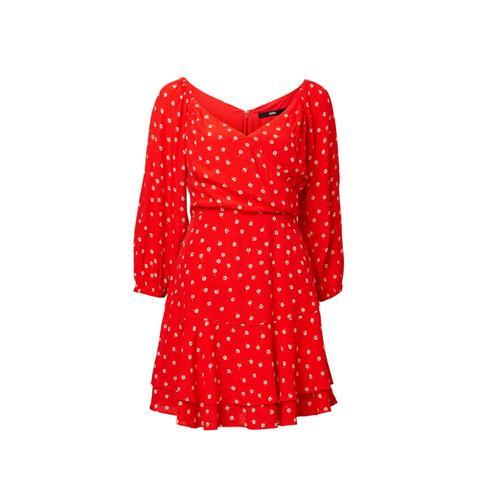 Printed Flippy Mini Dress