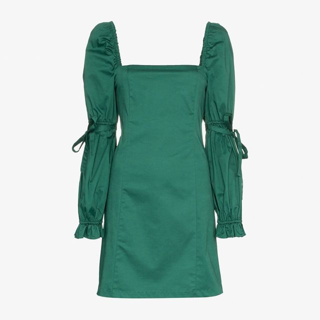 Staud Tai Puff Sleeve Dress