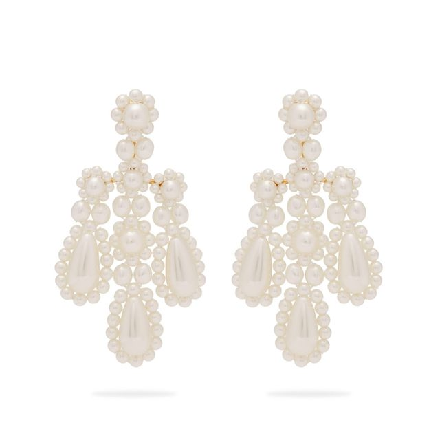 Simone Rocha Faux-Pearl and Metal Earrings