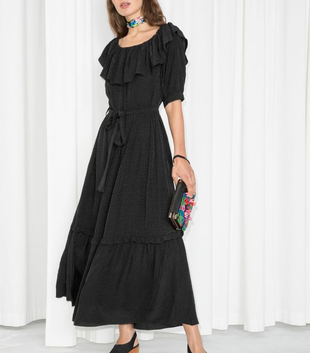 & Other Stories Off Shoulder Ruffle Maxi Dress