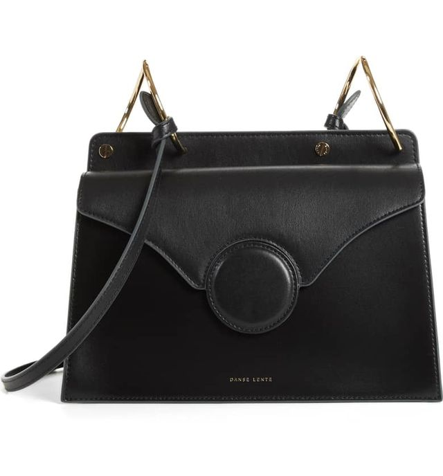 Phoebe Leather Crossbody Bag in Black