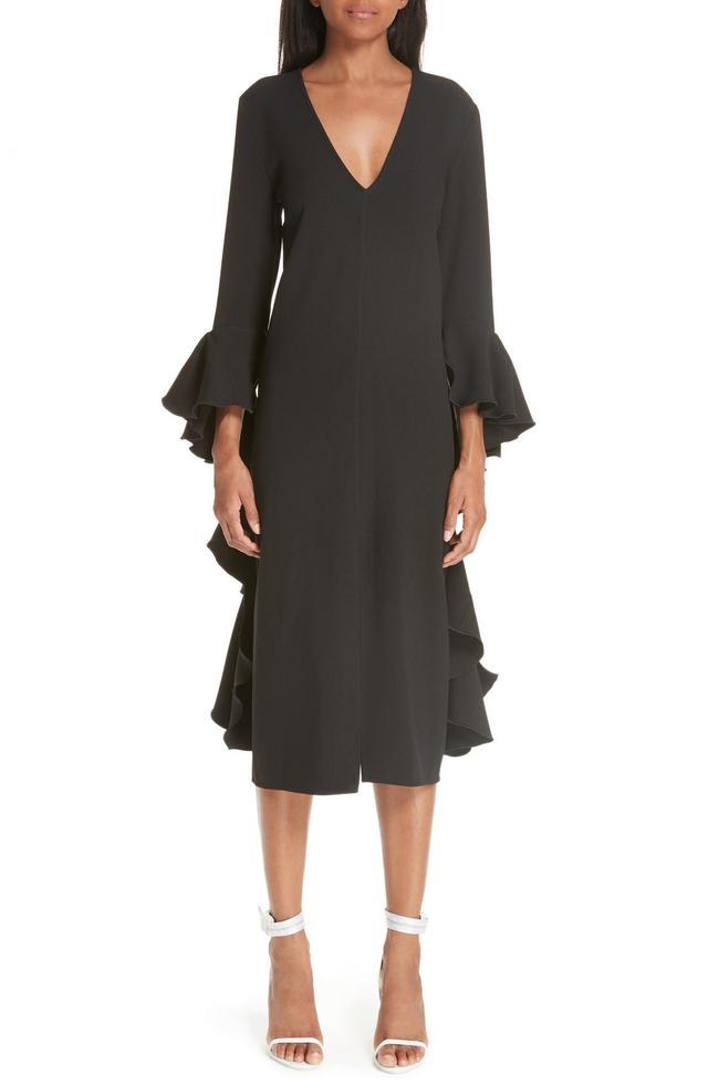 Reuben Frill Sleeve Dress