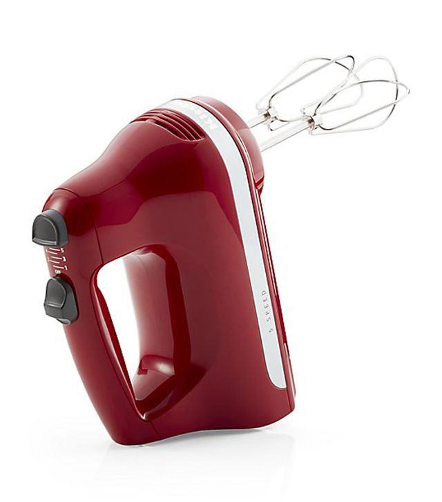 ® Empire Red 5-Speed Hand Mixer - Crate and Barrel