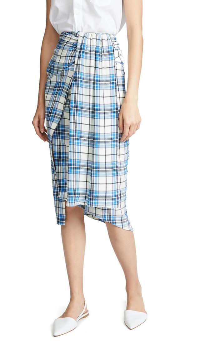 Siven Silk Wrap Skirt