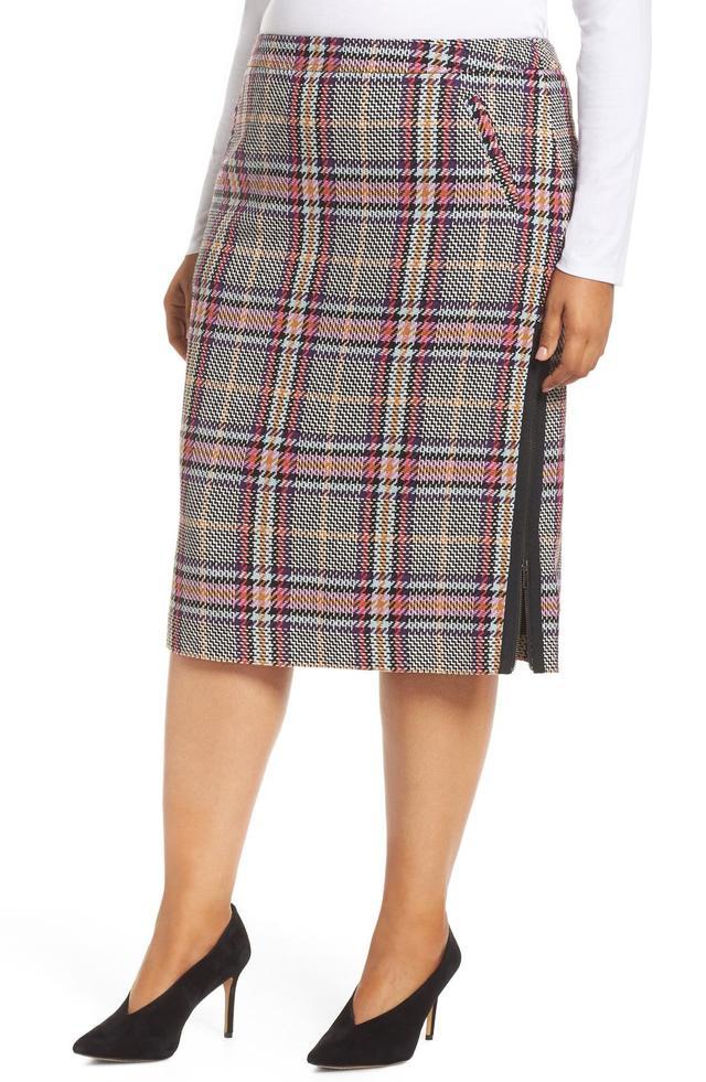Plus Size Women's Halogen Plaid Pencil Skirt
