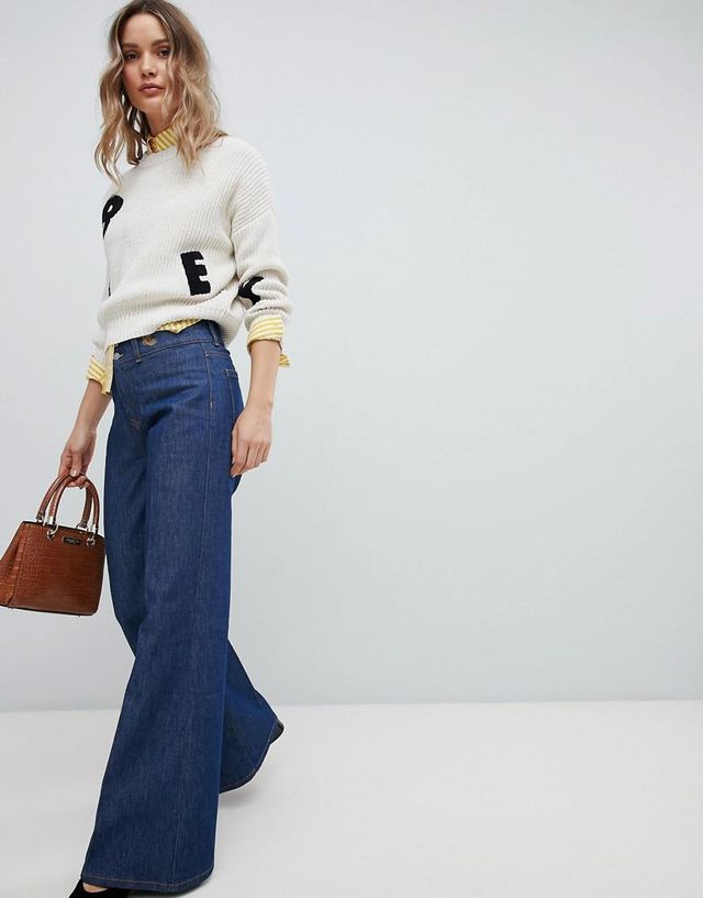 Wide Leg Jean in Rigid Denim
