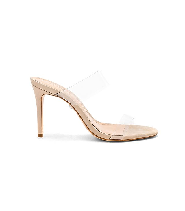 Ariella Clear Strap High-Heel Slide Sandals