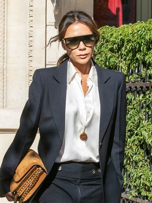 Victoria Beckham Just Made a See-Through Shirt and Bra Look Classy