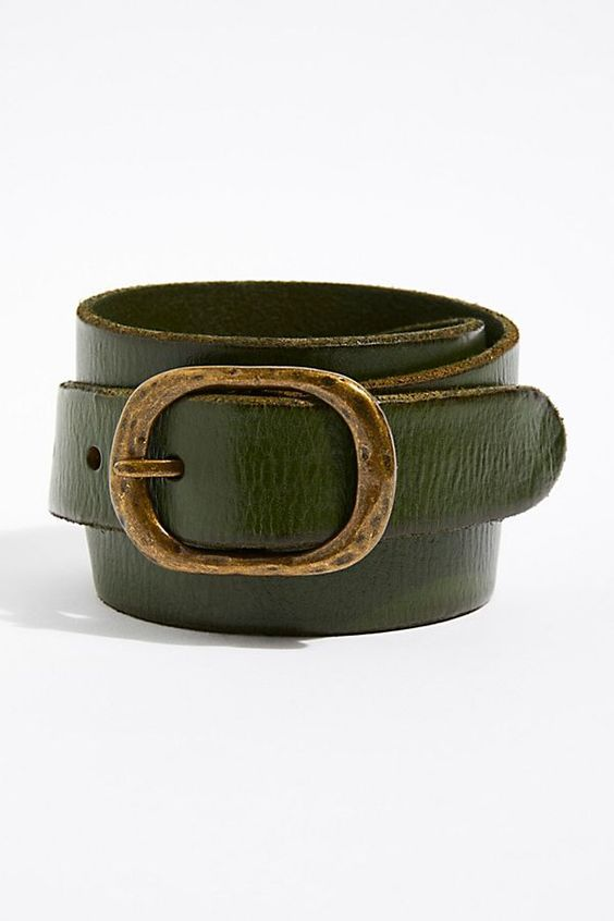 best affordable green leather belts