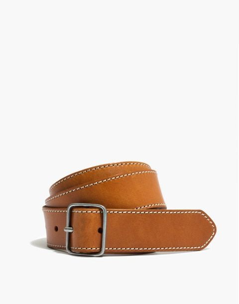 best affordable contrast stitched leather belts