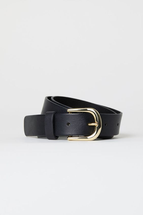 best affordable black leather belts
