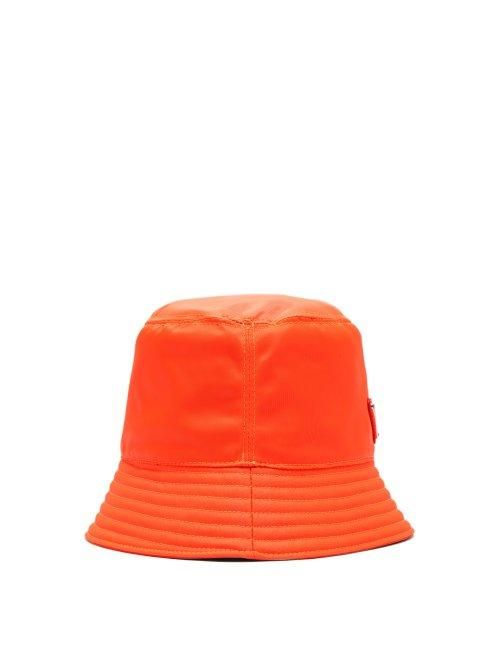- Triangle Logo Bucket Hat - Mens - Orange