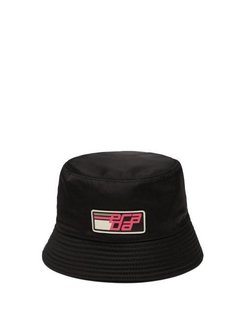 - Nylon Bucket Hat - Womens - Black