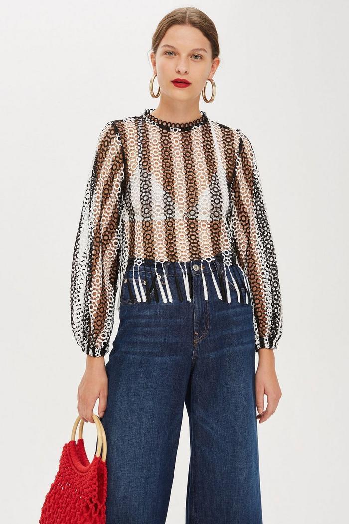b7c0b6e595a77a Shop Cute Tops to Wear With Jeans | Who What Wear
