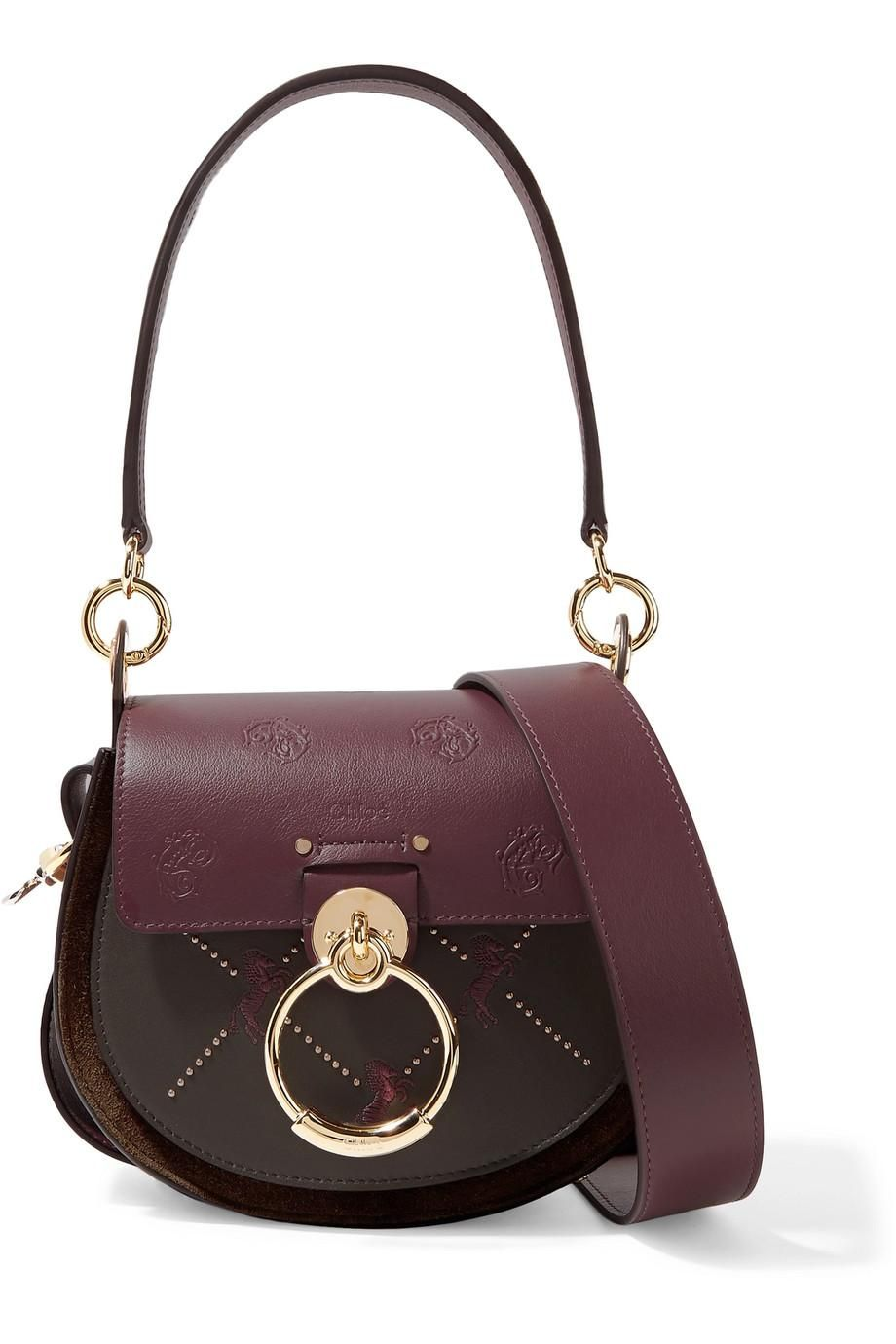 Chloe Leather and Suede Shoulder Bag