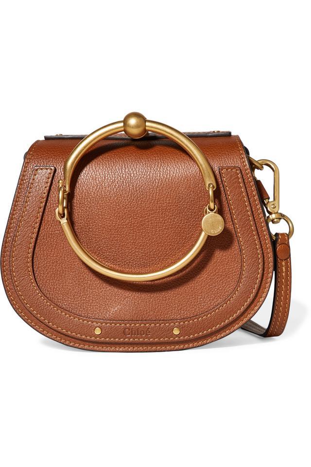 Nile Bracelet Leather And Suede Shoulder Bag