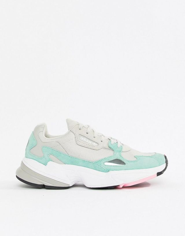 Falcon Sneaker In Gray And Mint