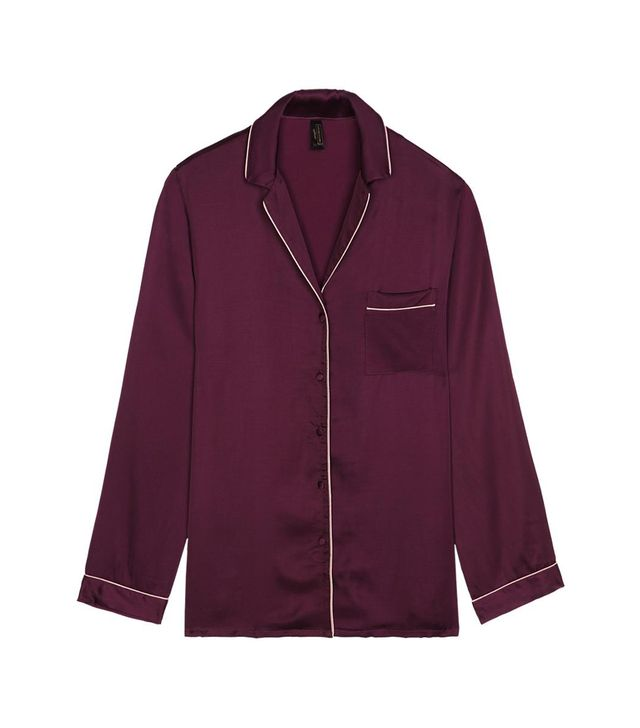 Intimissimi Satin Boyfriend-Fit Pajama Top