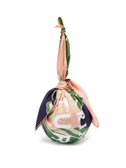 Dream Silk Scarf Handle Ball Bag