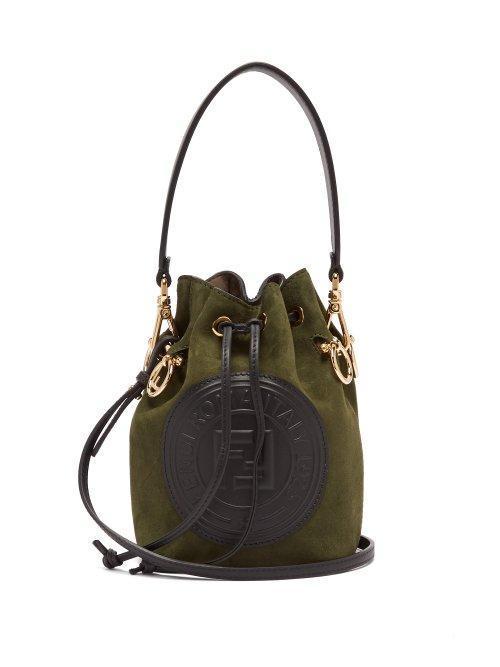Mon Tresor Mini Suede Bucket Bag