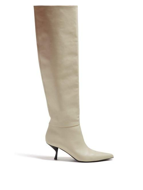 Bourgeoise Knee High Leather Boots