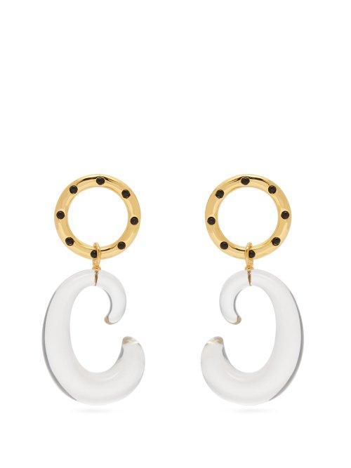 Matera Gold Plated Drop Earrings