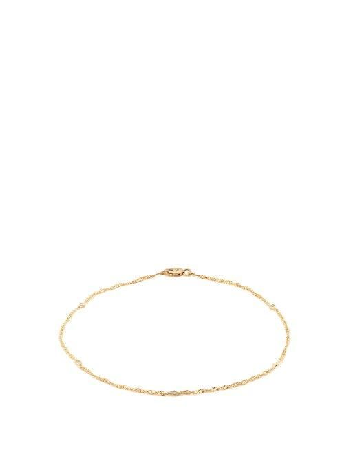 Topaz Embellished Gold Plated Anklet