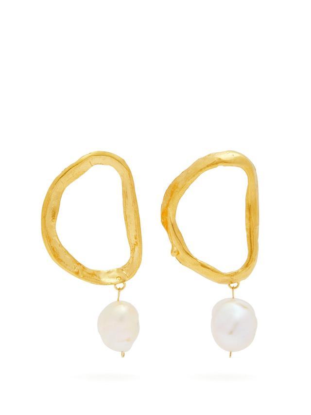 Alighieri Dante's Shadow Gold-Plated Earrings