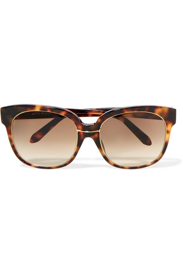 Oversized Square-frame Tortoiseshell Acetate And Gold-plated Sunglasses