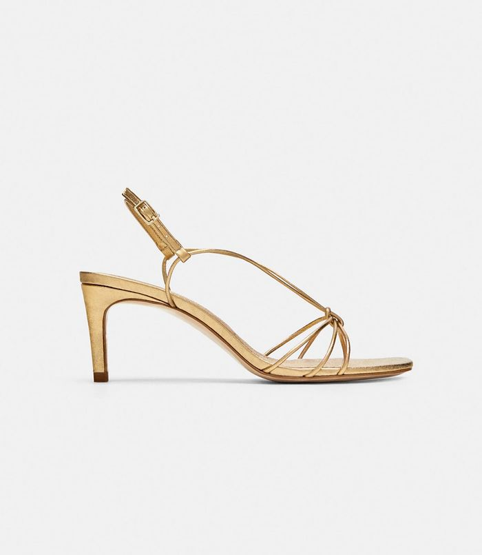 fd8ab19971c The shoes come in gold too. Pinterest · Shop · Zara Leather High Heel  Strappy ...