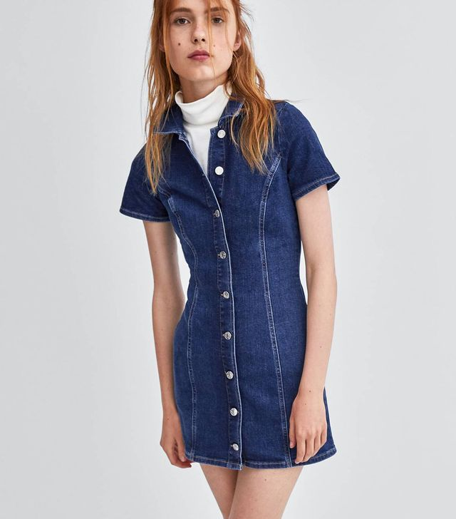 Zara Mini Denim Dress