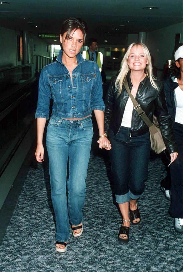 Victoria Beckham '90s jean trends