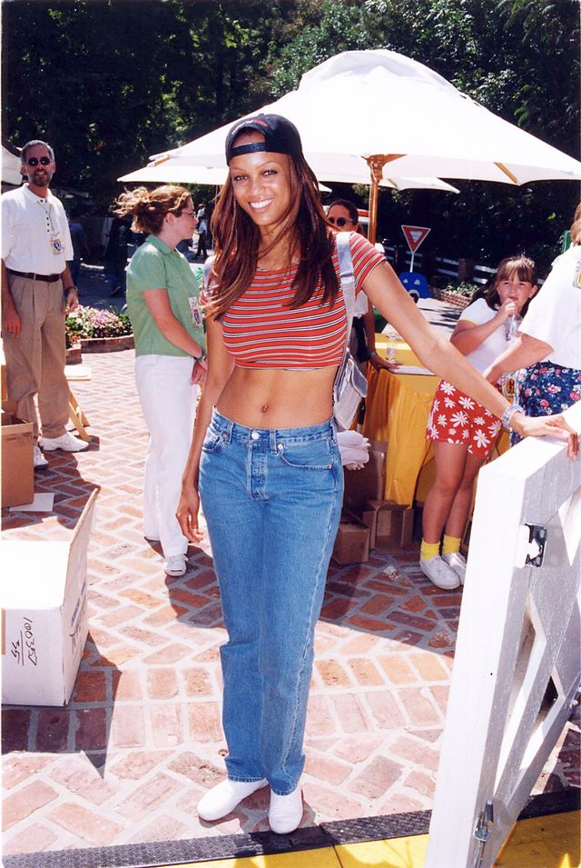 Tyra Banks '90s jean trends