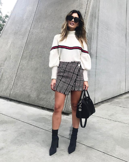 54a9b6a67 The Best Sweater-and-Skirt Outfits for Fall | Who What Wear