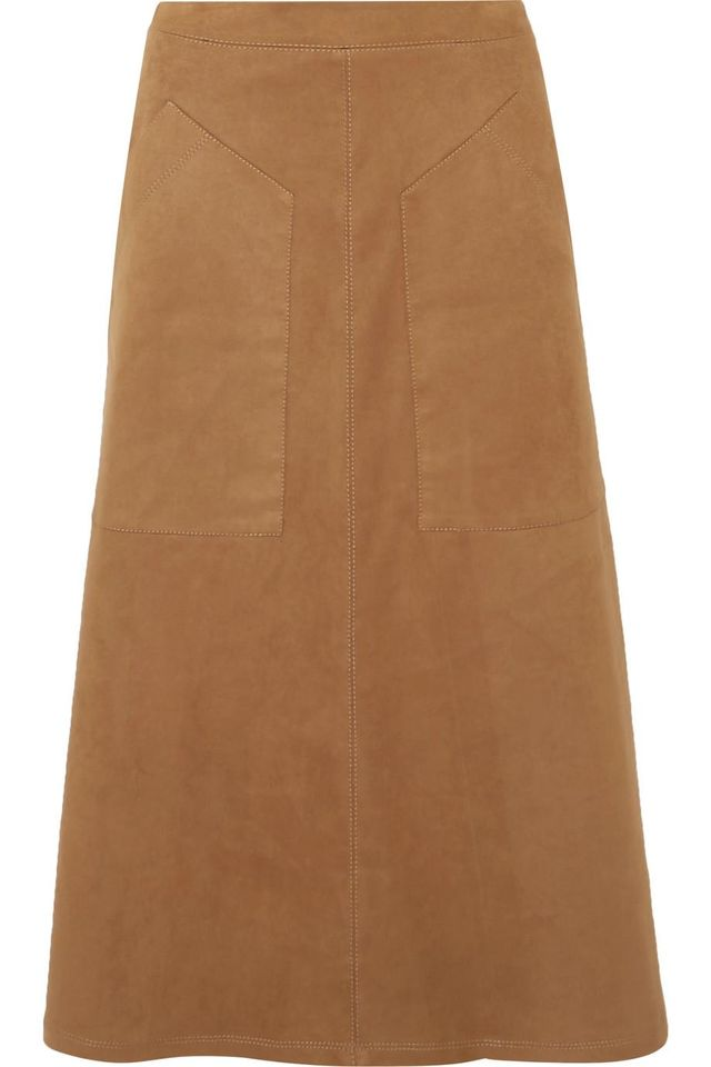 Carrie Faux Suede Midi Skirt