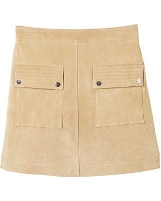 Mango Pocketed Suede Skirt