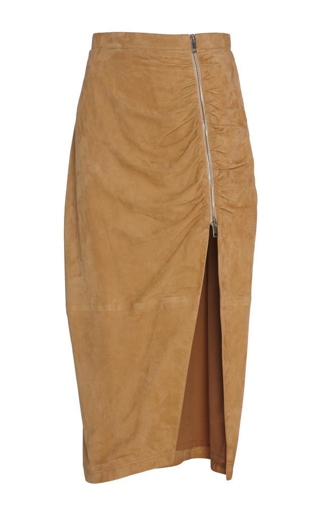 Pietro Suede Pencil Skirt