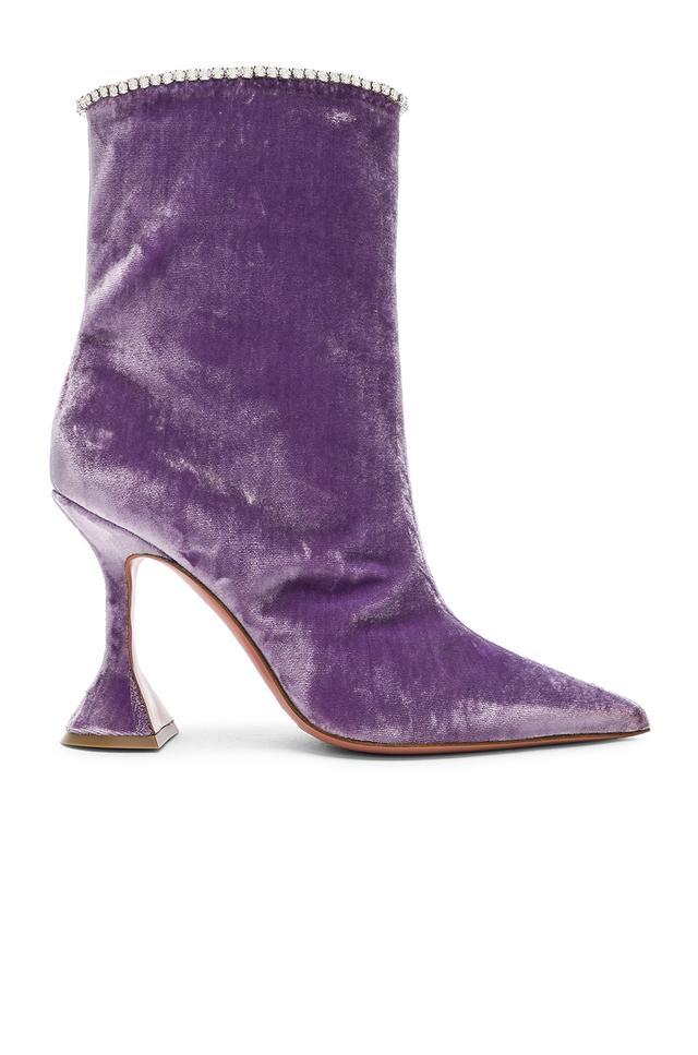 Amina Muaddi Velvet Mia Boots