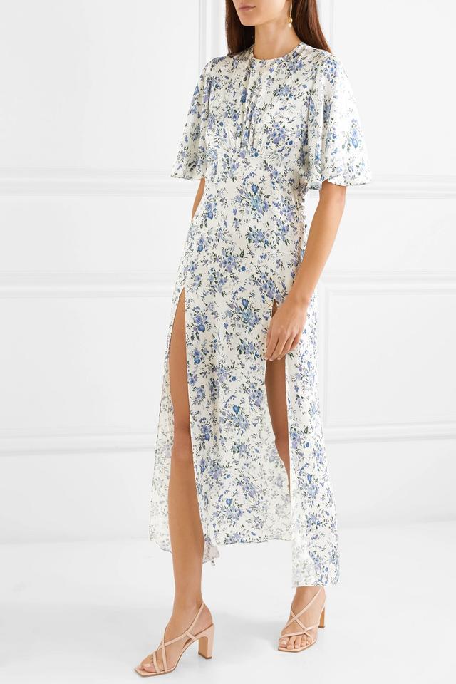 Floral-print Silk-satin Maxi Dress