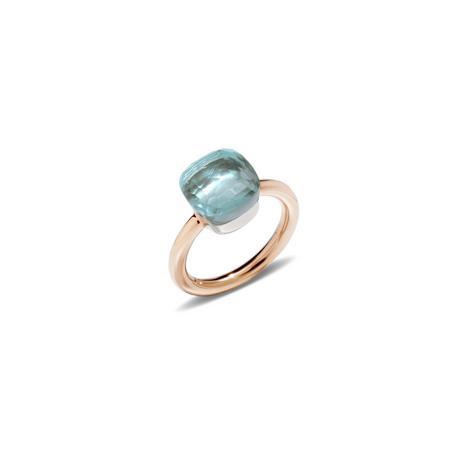 Pomellato Ring Nudo with Blue Topaz