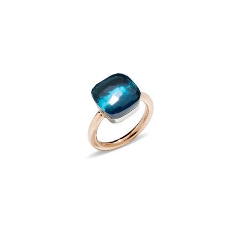 Pomellato Ring Nudo in London Blue Topaz