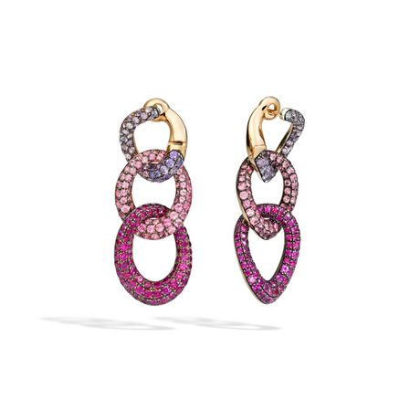 Pomellato Tango Earrings with Purple Sapphires and Pink Spinels